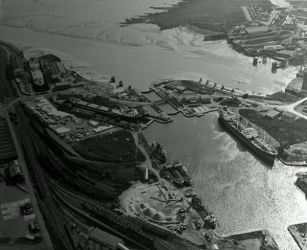 Cardiff docks from the air