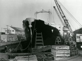 vessel in dry dock